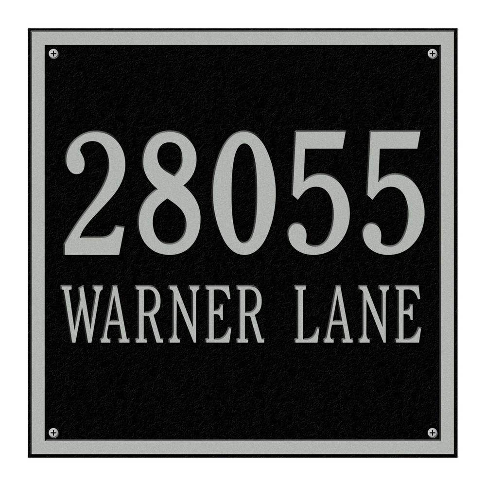 Whitehall Products Square Estate Wall 2-Line Address Plaque -