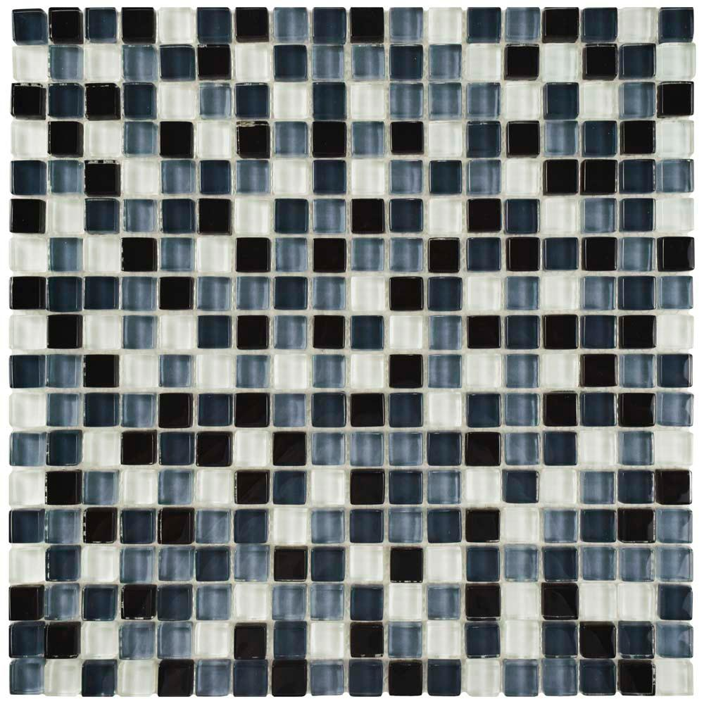 Merola Tile Tessera Mini Night 11-3/4 in. x 11-3/4 in. x