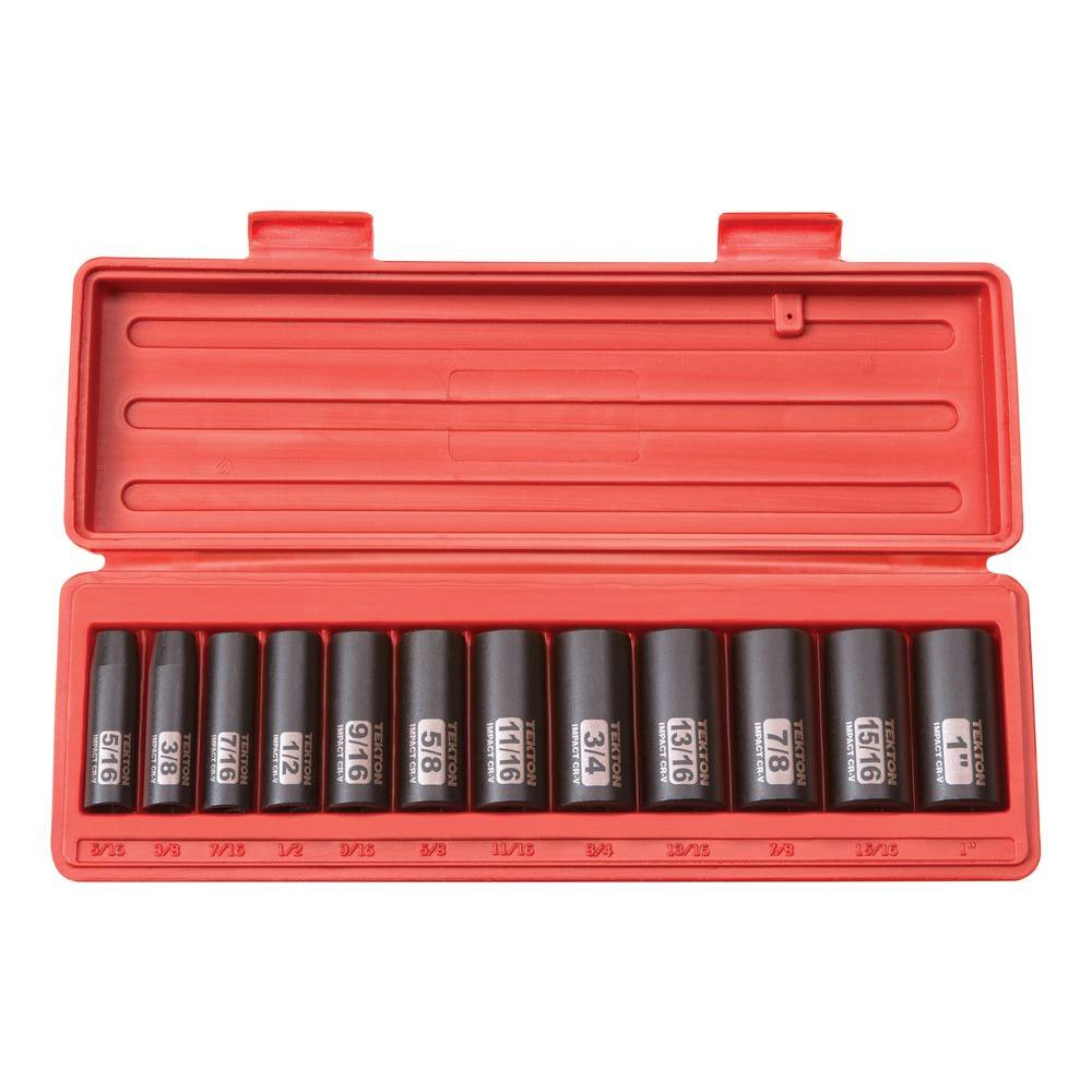 3/8 in. Drive 5/16-1 in. 6-Point Deep Impact Socket Set