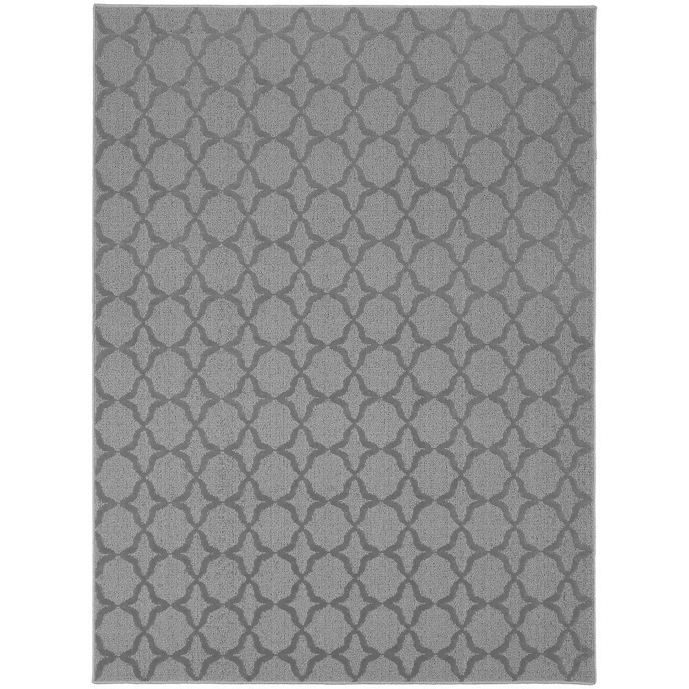 Garland Rug Sparta Silver 5 Ft. x 7 Ft. Area Rug-CL100A060084D7