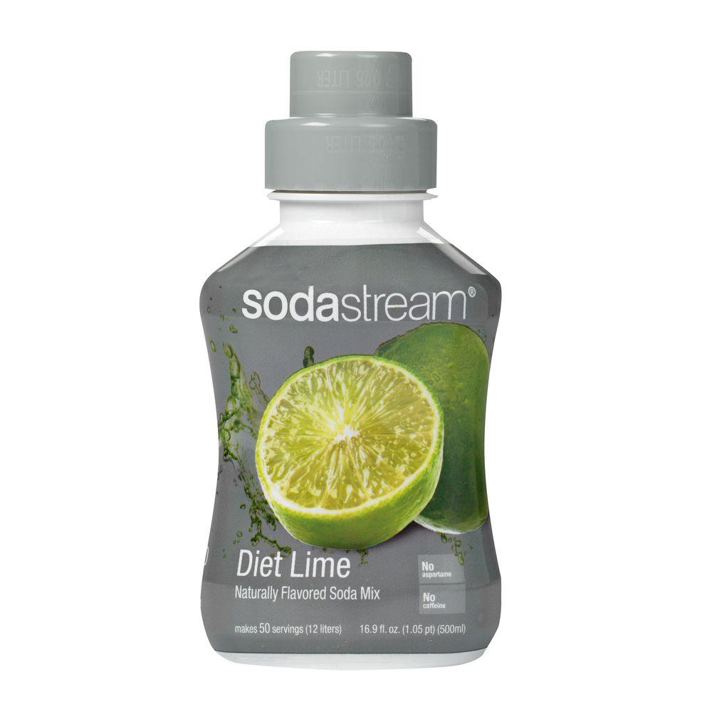 SodaStream 500ml Soda Mix - Diet Lime (Case of 4)