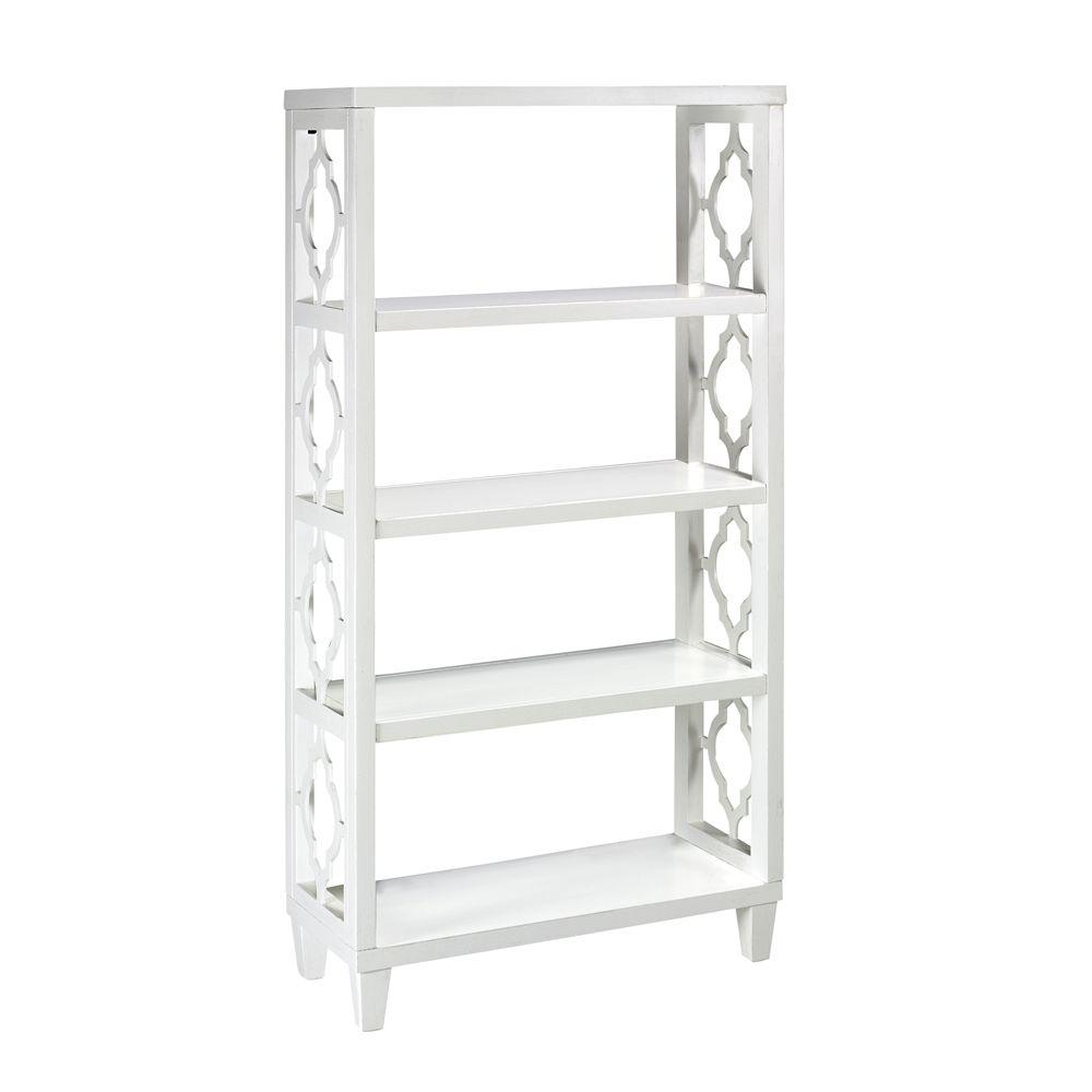 Home Decorators Collection Reflections 28 in. W x 12 in. D Storage Shelf in Antique White-DISCONTINUED