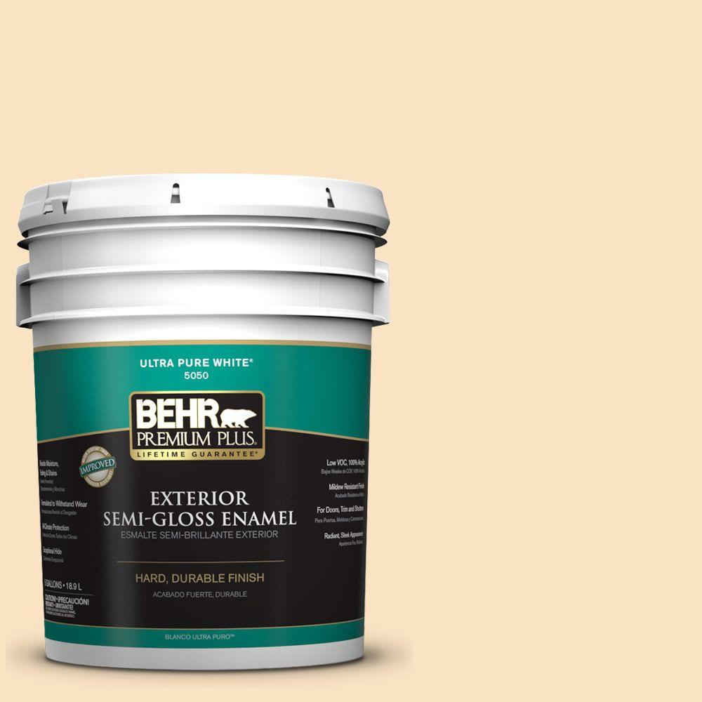 BEHR Premium Plus Home Decorators Collection 5-gal. #HDC-CT-03 Candlewick Semi-Gloss Enamel Exterior Paint
