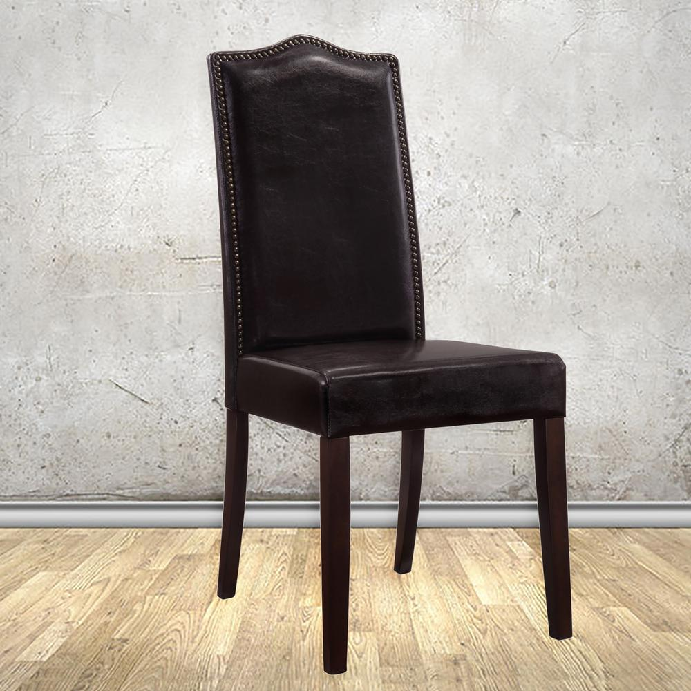 Romero Espresso Linen Parsons Dining Chair