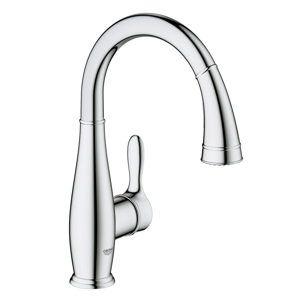 GROHE Parkfield Single-Handle Pull-Down Sprayer Kitchen Faucet with Dual Spray