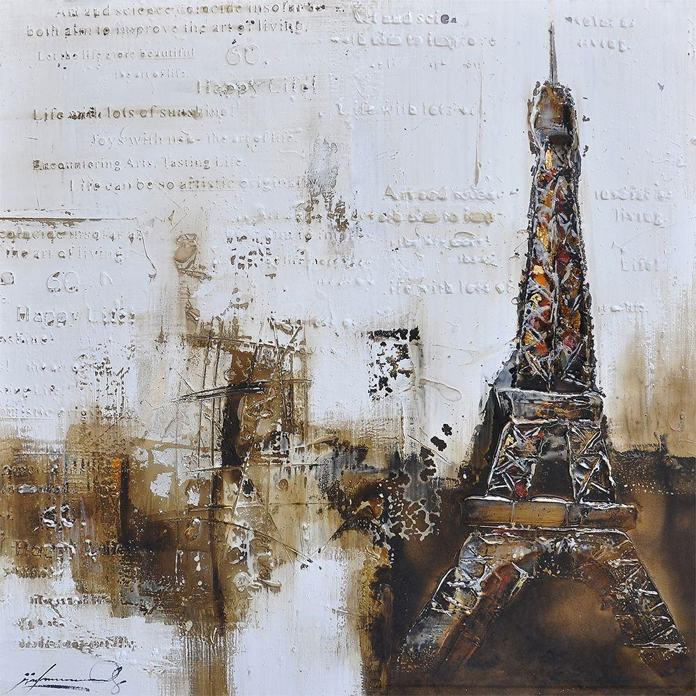 Yosemite Home Decor 40 in. x 40 in. Paris a La Mode III Hand Painted Contemporary Artwork-DISCONTINUED