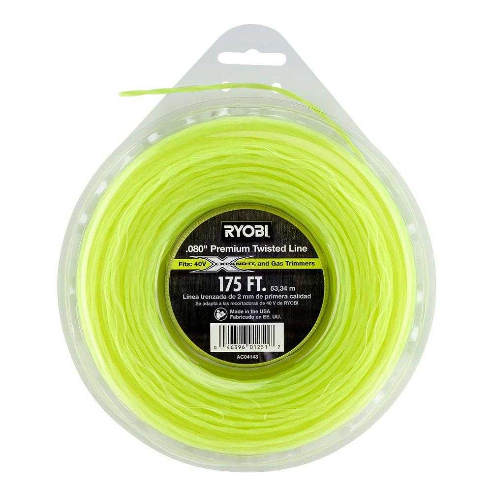 Ryobi 0.080 in. x 175 ft. Premium Twisted Corded and Cordless Trimmer Line