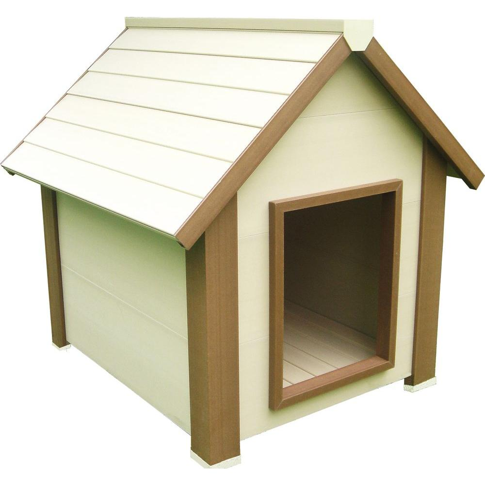 New Age Pet Eco Concepts Hi-R Canine Cottage Insulated Dog House, Medium-DISCONTINUED