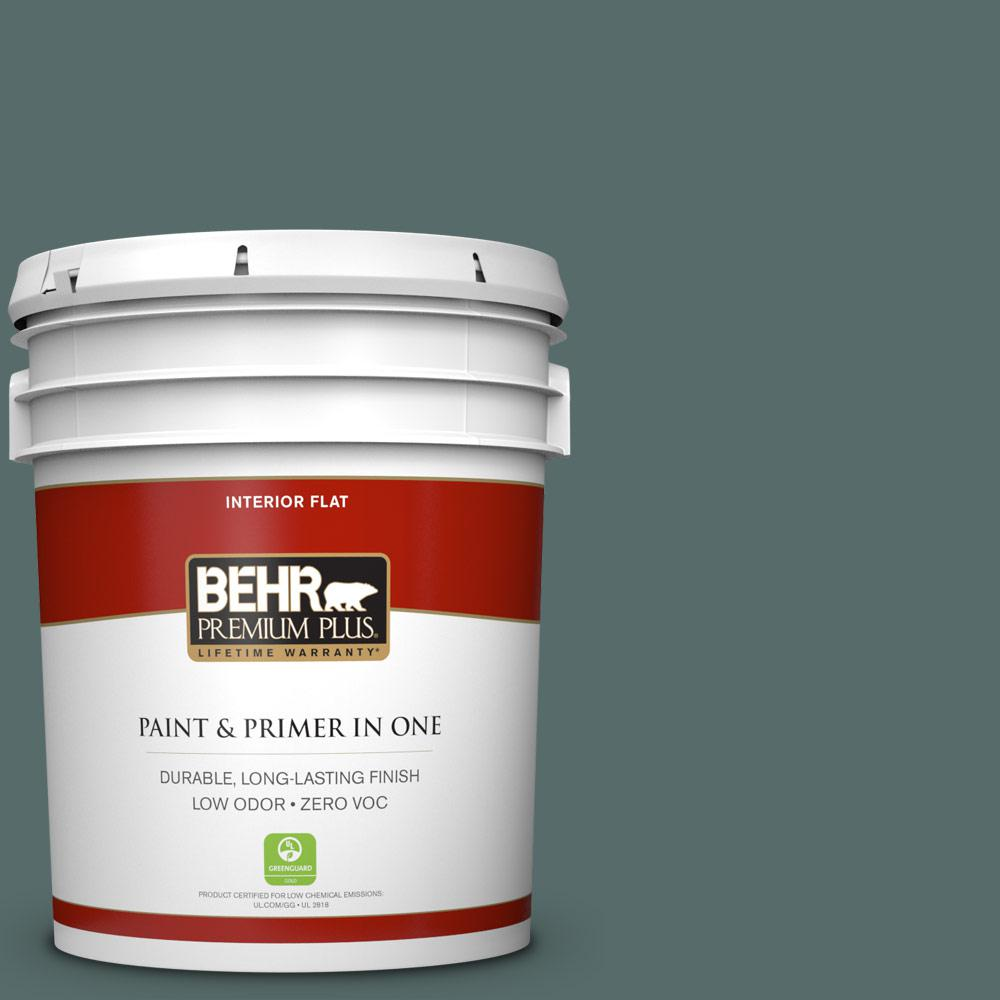 5 gal. #490F-6 Agave Frond Zero VOC Flat Interior Paint