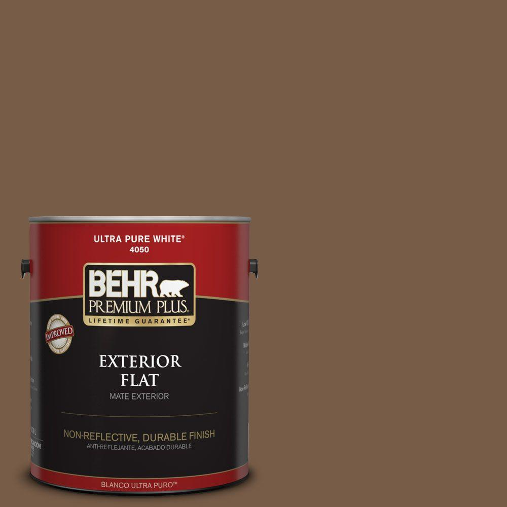 1-gal. #N250-7 Mission Brown Flat Exterior Paint