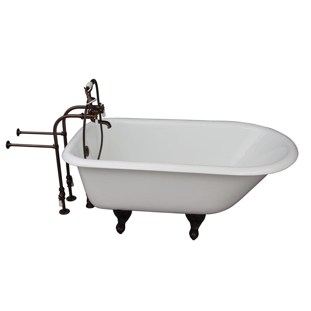 4.5 ft. Cast Iron Ball and Claw Fett Roll Top Tub