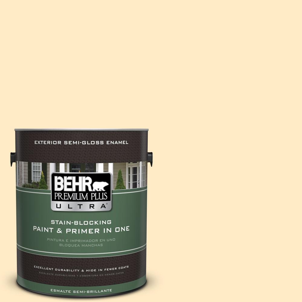 1-gal. #330A-2 Frosted Lemon Semi-Gloss Enamel Exterior Paint