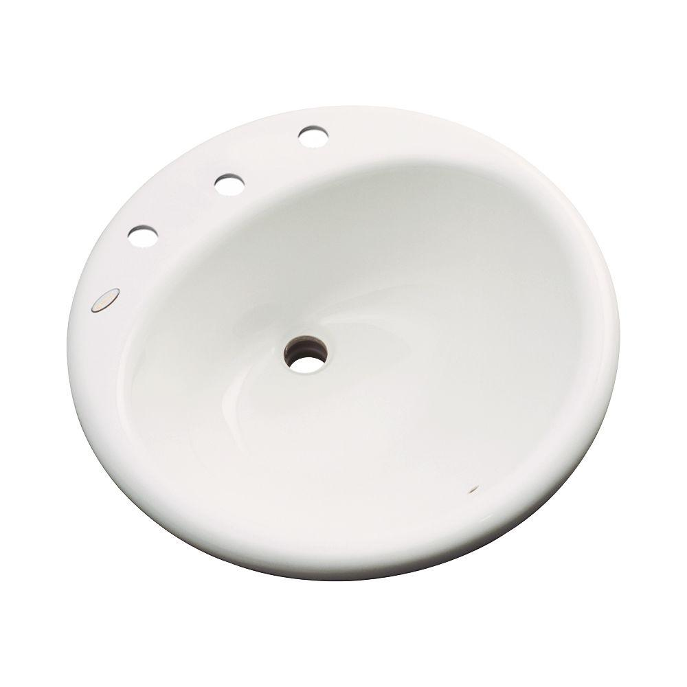 Thermocast Clarington Drop-In Bathroom Sink in Biscuit-96803 - The Home Depot