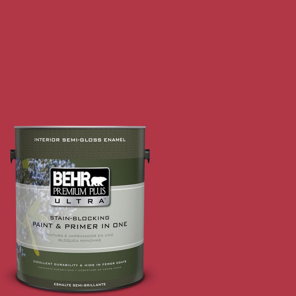 1-gal. #140B-7 Frosted Pomegranate Semi-Gloss Enamel Interior Paint