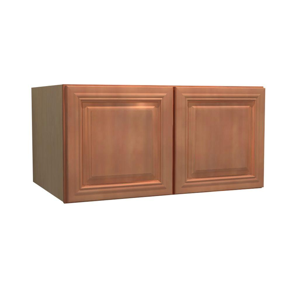Home Decorators Collection 30x24x24 in. Dartmouth Assembled Wall Cabinet with 2 Doors in Cinnamon