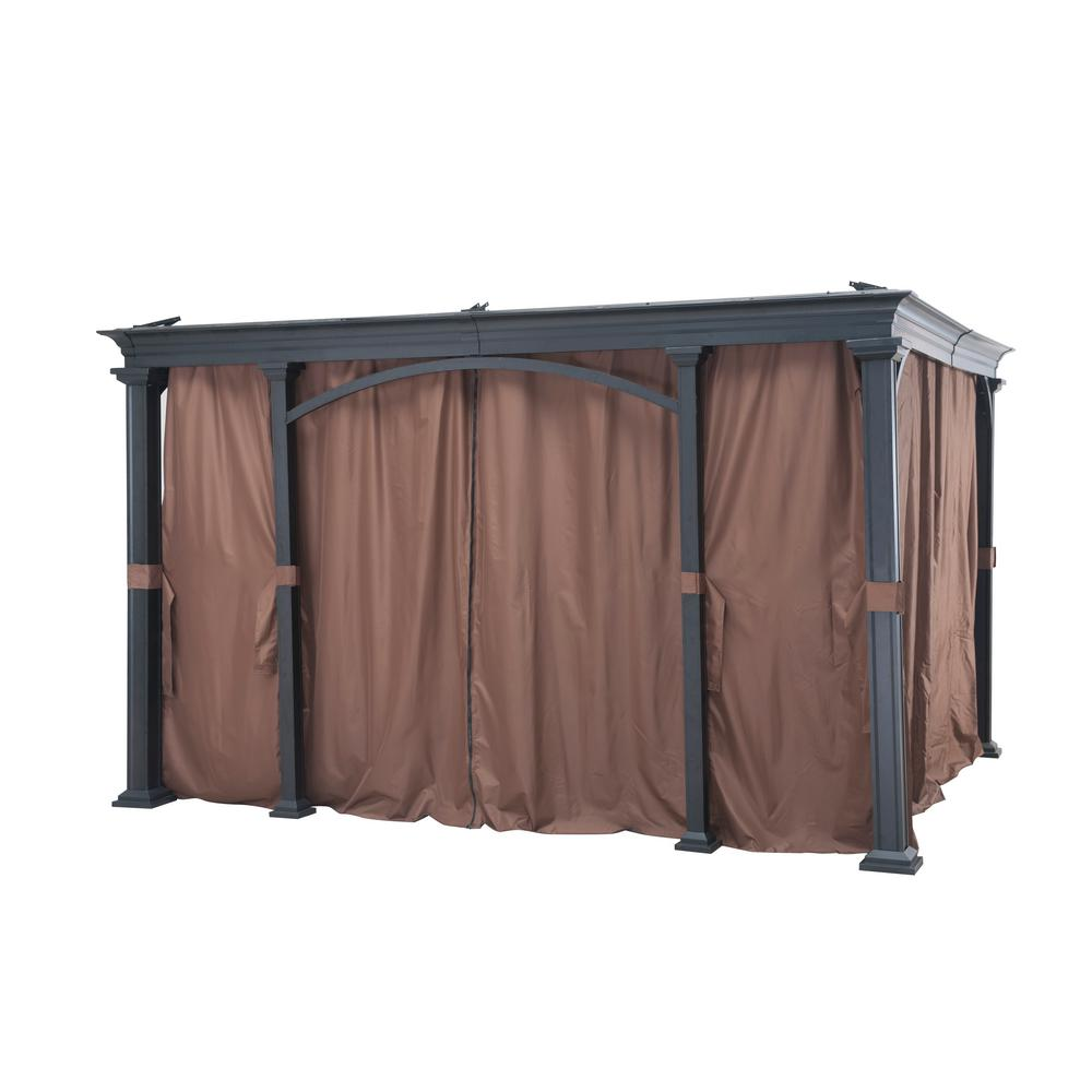 Universal Curtain for 12 ft. x 10 ft. Gazebos