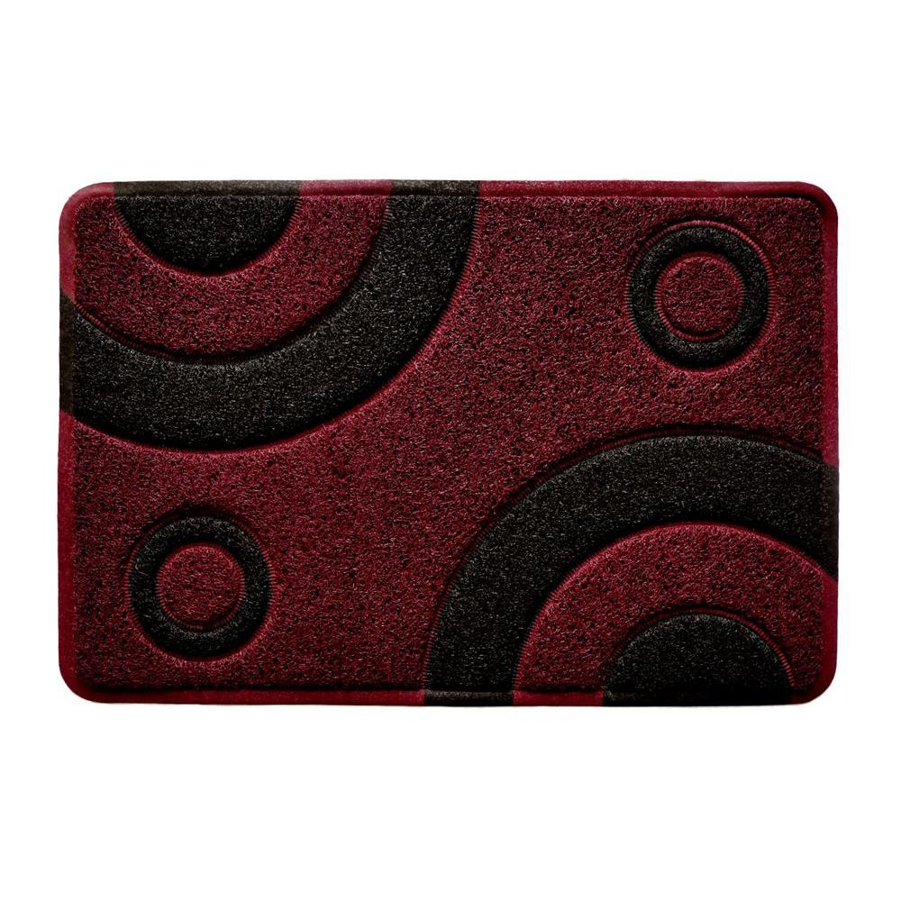 Smartcatcher Bullseye Collection Contemporary Marsala at Midnight 24 in. x 36
