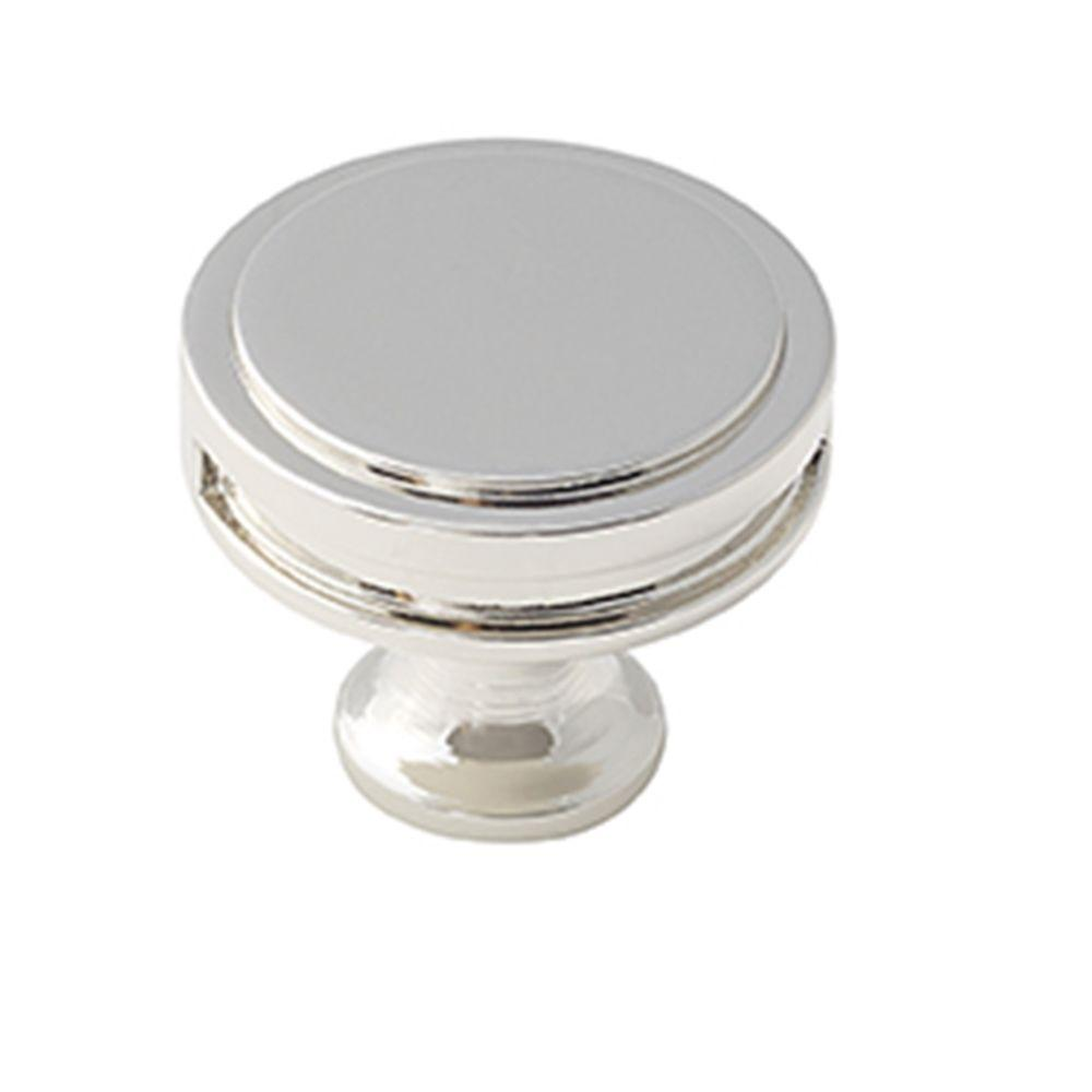 Oberon 1-3/8 in. (35 mm) Polished Nickel Cabinet Knob
