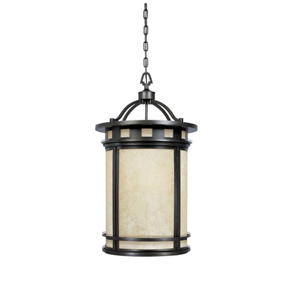 Designers Fountain Mesa Collection 3-Light Oil Rubbed Bronze Outdoor Hanging Foyer Light