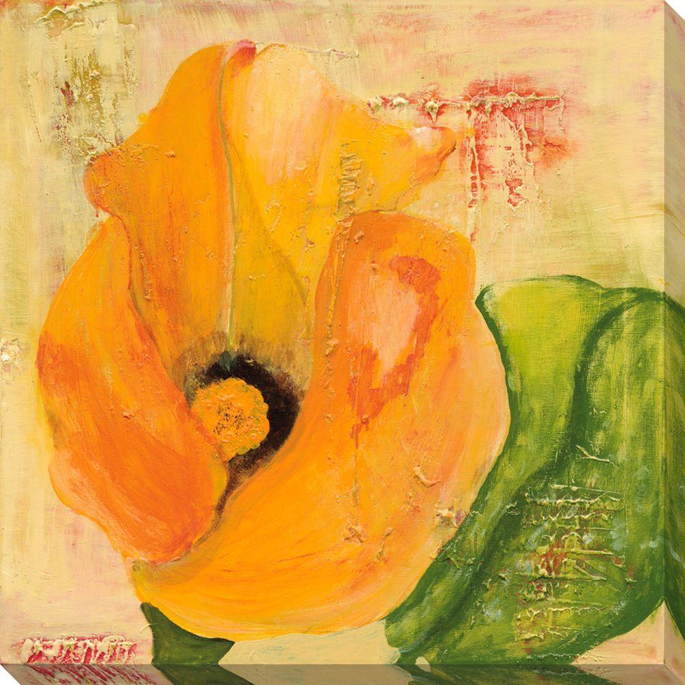 NEP Art 40 in. x 40 in. Calla Lily in Orange Oversized Canvas Gallery Wrap