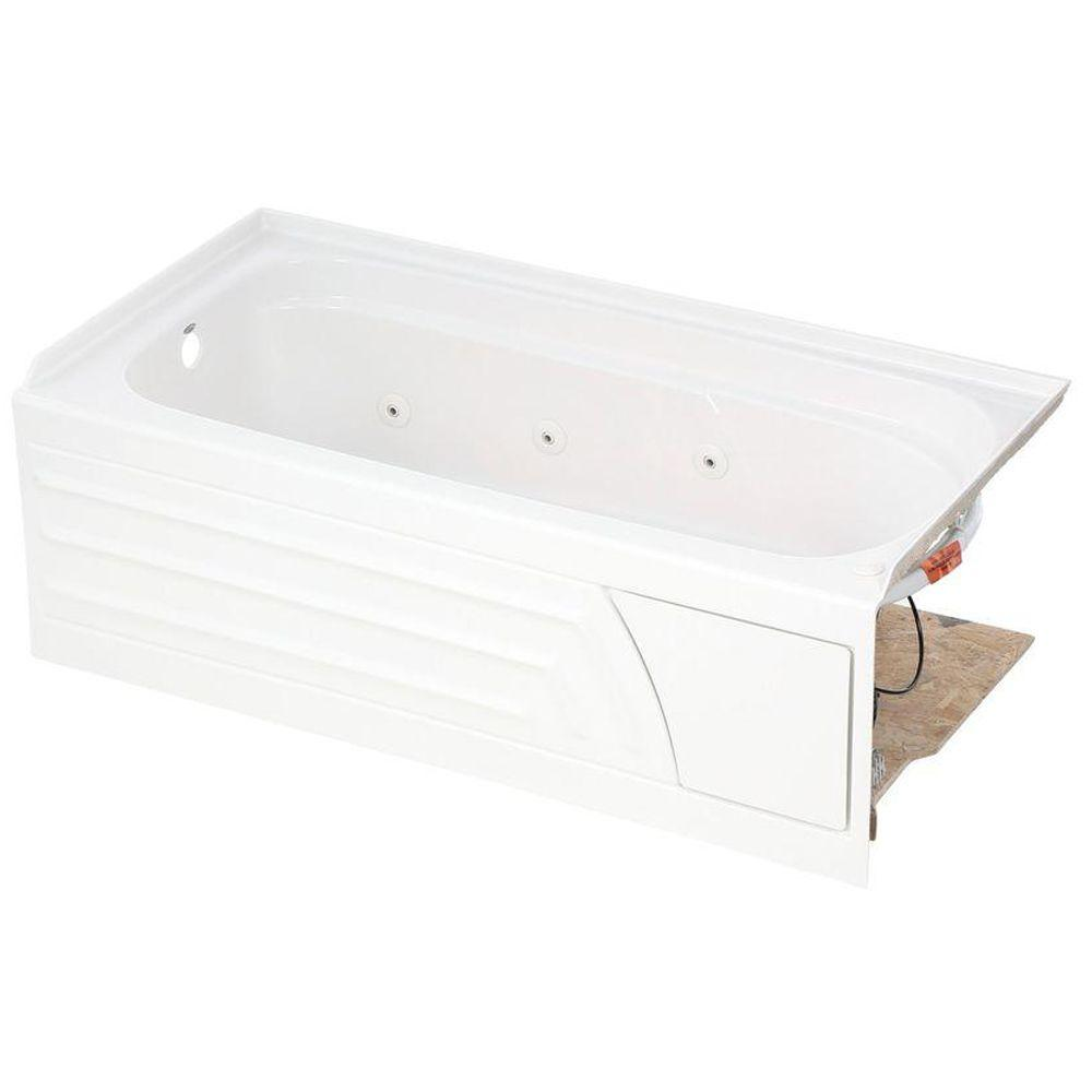 American Standard Colony 5 ft. x 30 in. Left Drain Whirlpool Tub with Integral Apron in White