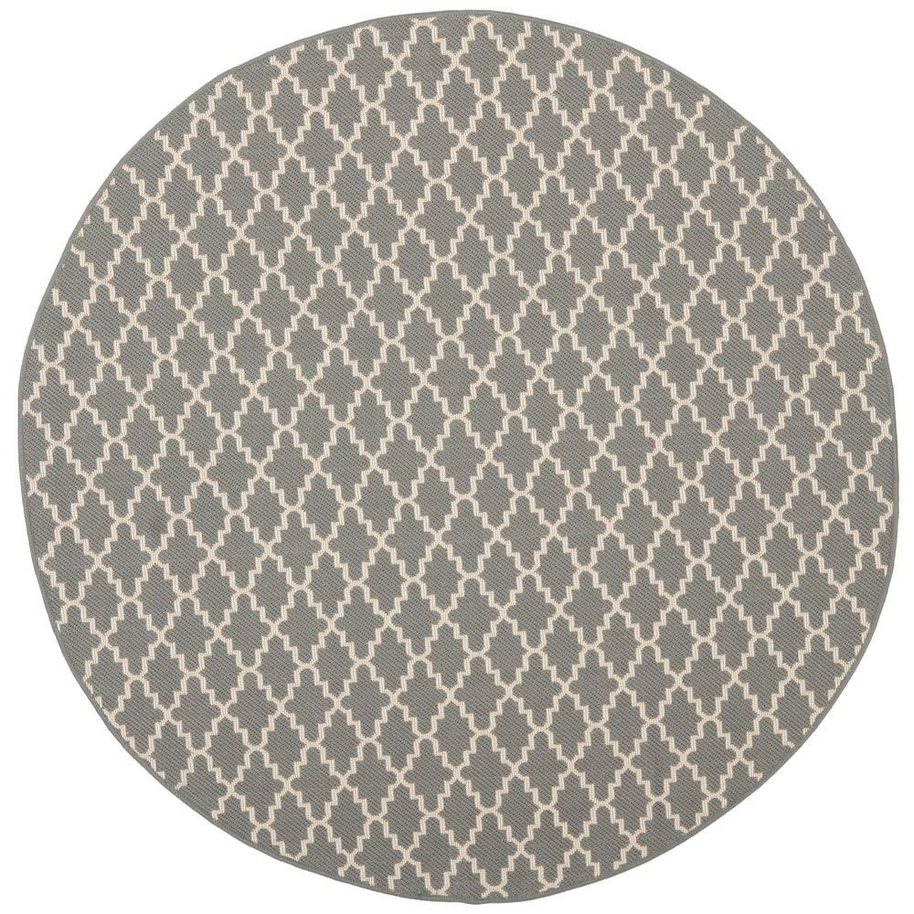Courtyard Anthracite/Beige 7 ft. 10 in. x 7 ft. 10 in.