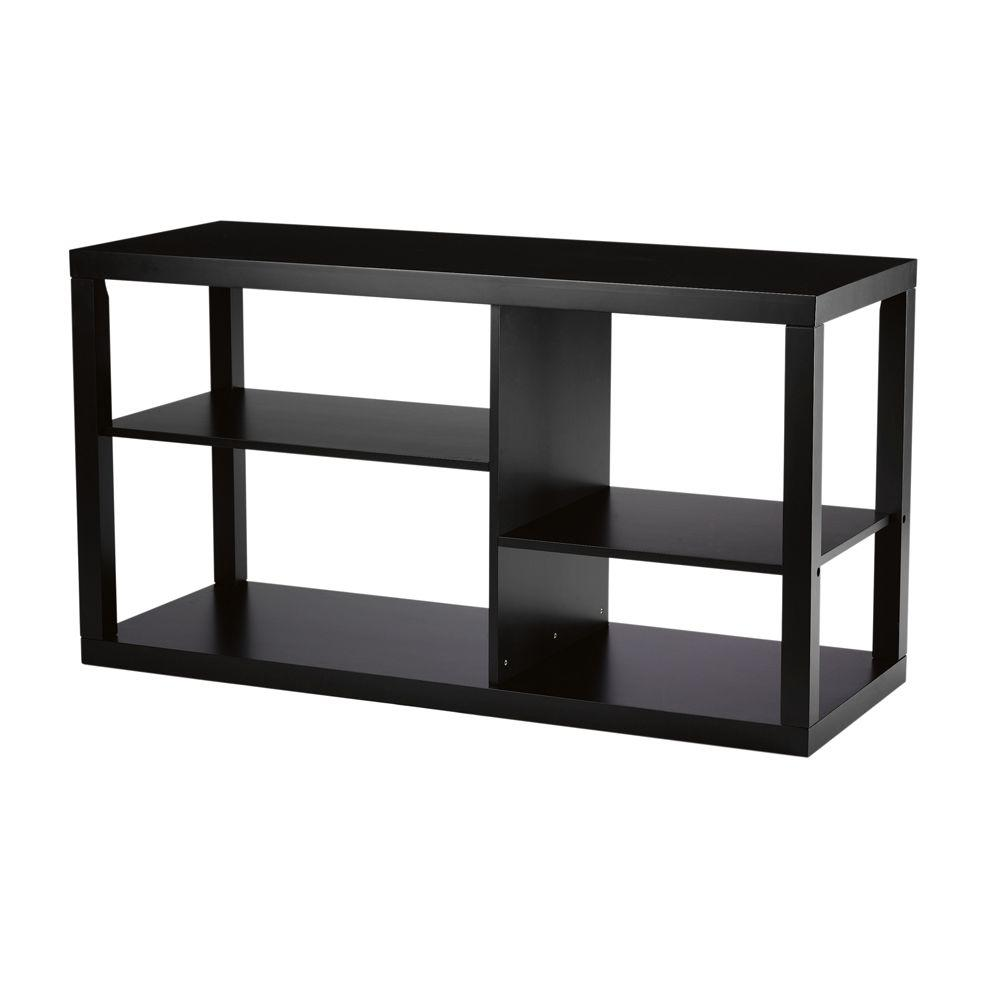 Home Decorators Collection Parsons 48 in. W Black Media Cabinet-DISCONTINUED