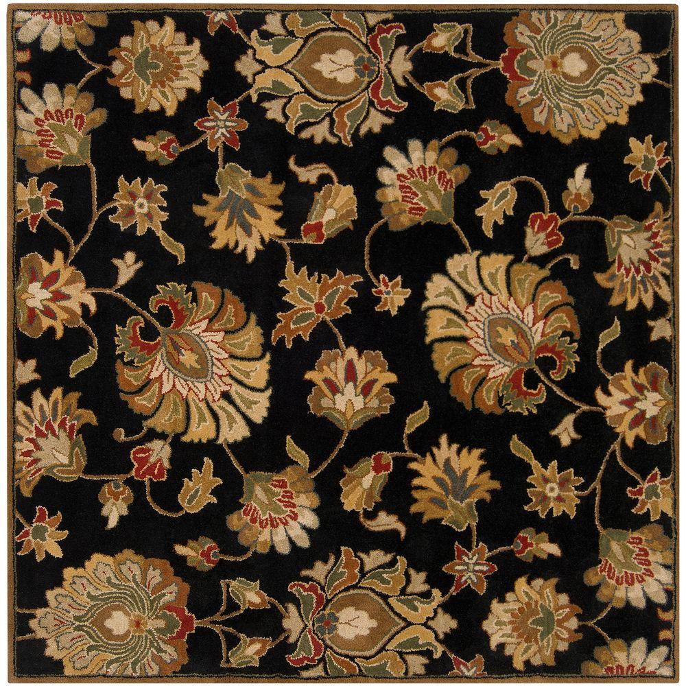 John Black 6 ft. Square Area Rug
