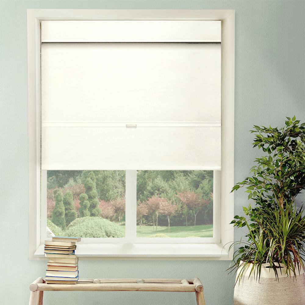 Cordless Magnetic Roman Shade / Window Blind Fabric Curtain Drape, Thermal,
