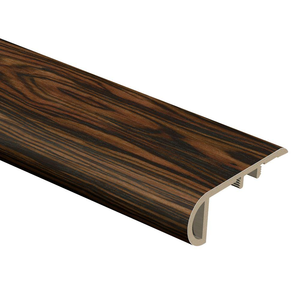 Zamma Rosewood Ebony 3/4 in. Thick x 2-1/8 in. Wide x 94 in. Length Vinyl Stair Nose Molding