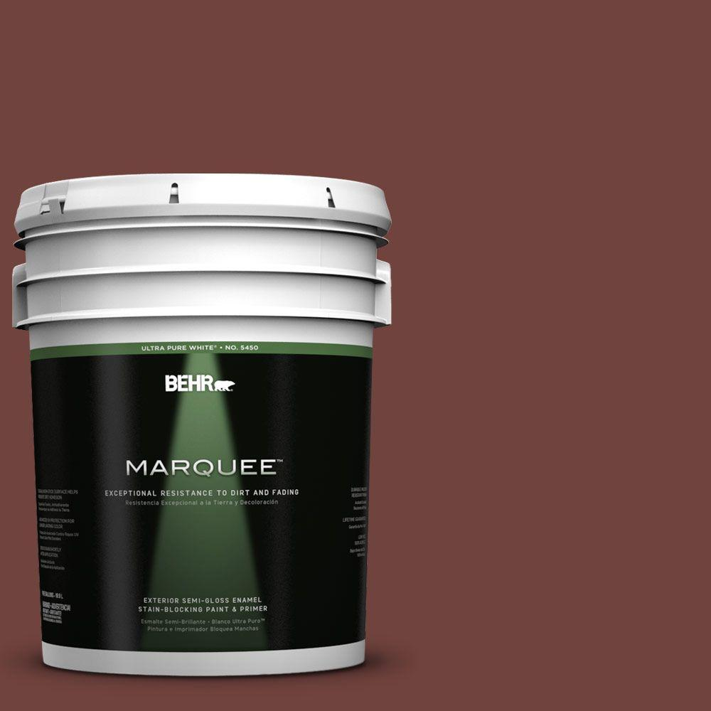 BEHR MARQUEE 5-gal. #160F-7 Burnished Mahogany Semi-Gloss Enamel Exterior Paint