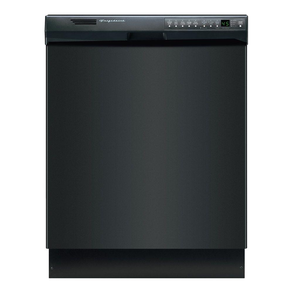 Frigidaire Front Control Dishwasher in Black with Stainle...