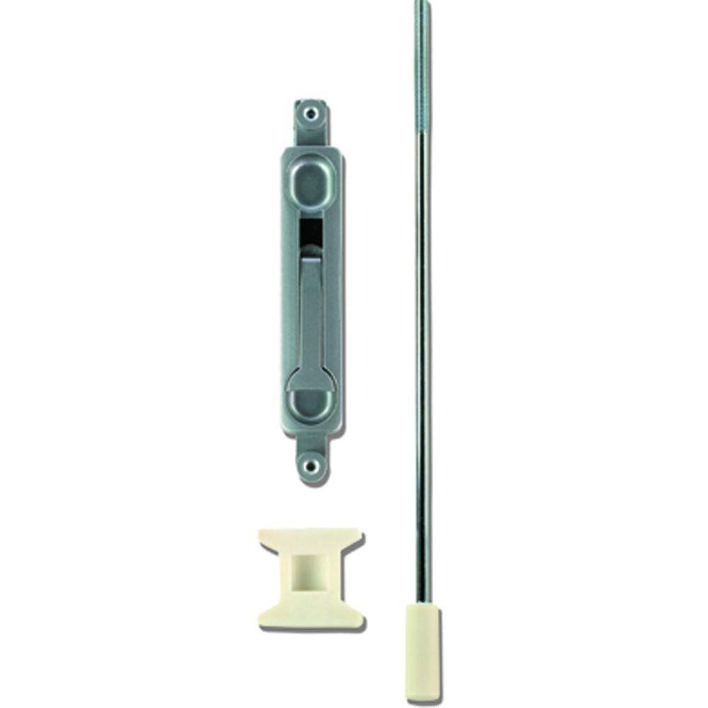 Global Door Controls 15 in. Flush Bolt with 1/8 in. Offset in Aluminum