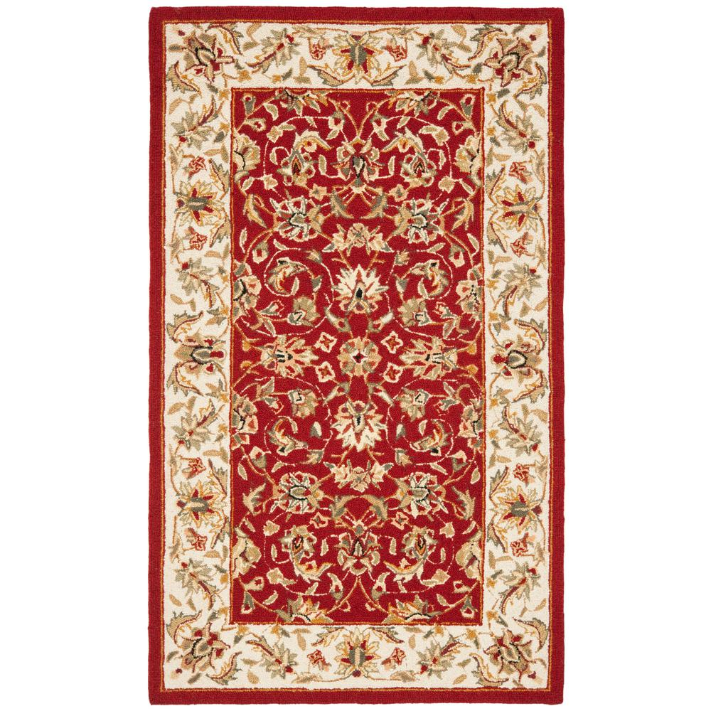 Chelsea Burgundy/Ivory 2 ft. 6 in. x 4 ft. Area Rug