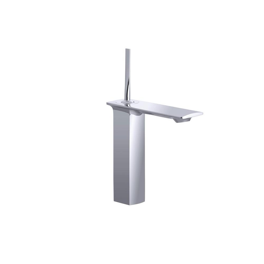 Stance Single Hole Single Handle Mid-Arc Bathroom Faucet in Polished Chrome