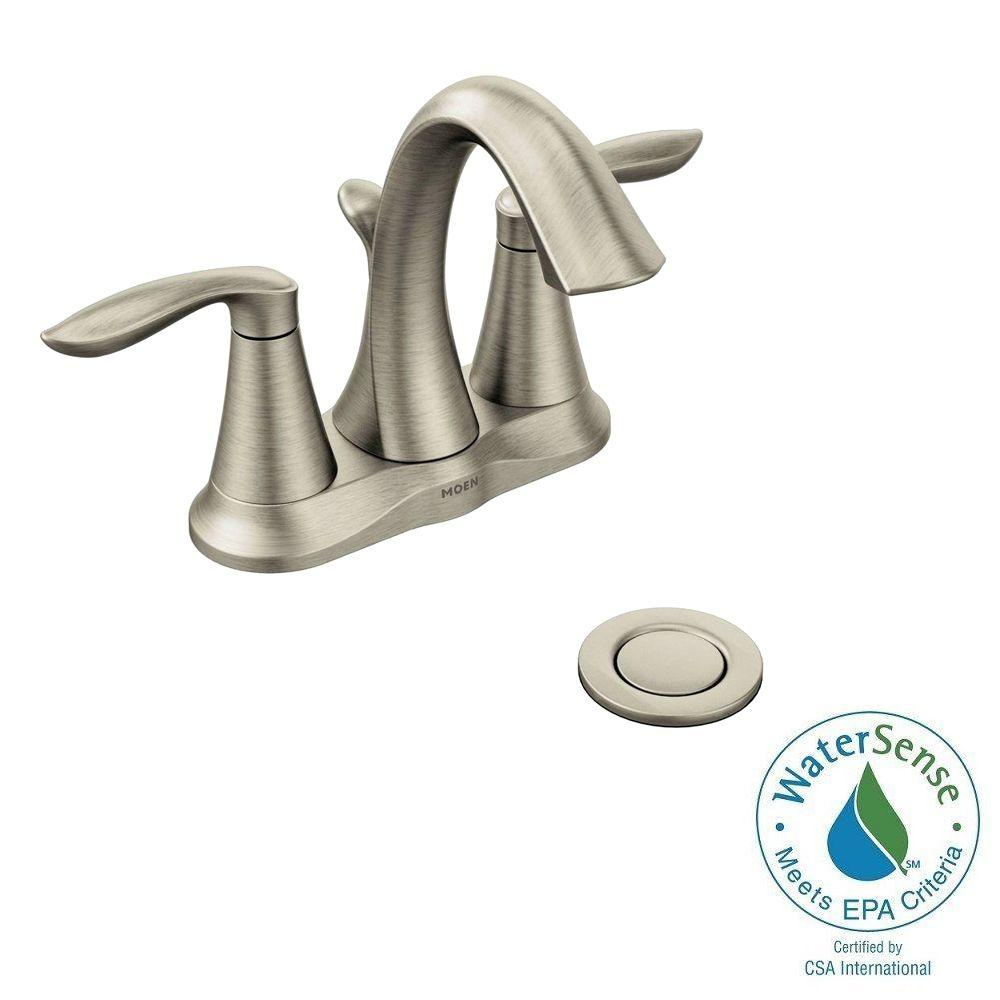 bathroom facuets centerset  handle high arc bathroom faucet in brushed nickel