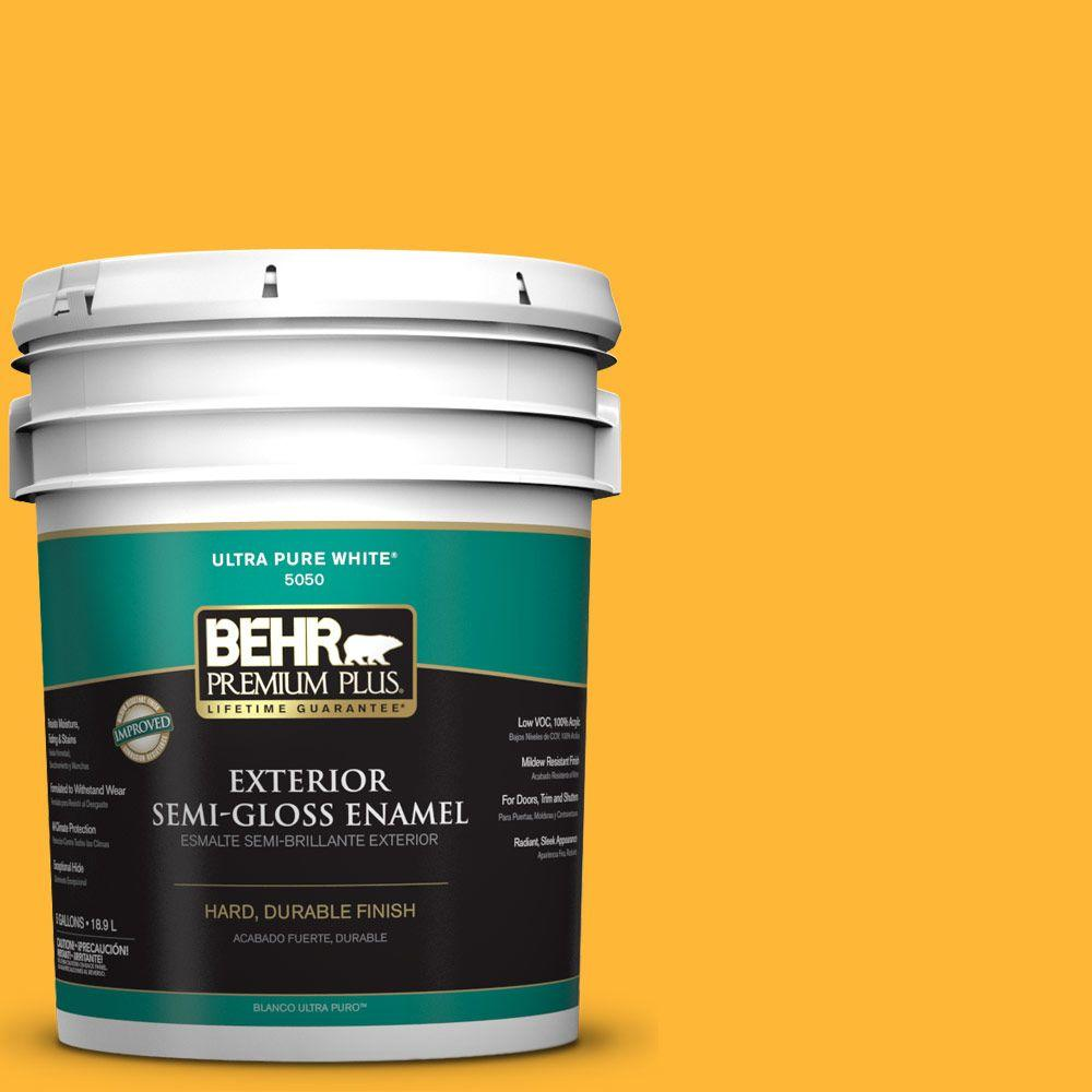 5-gal. #P270-6 Soft Boiled Semi-Gloss Enamel Exterior Paint