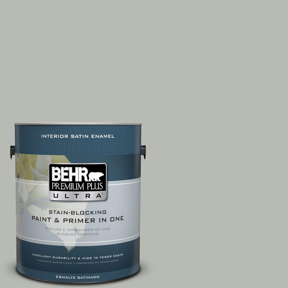 BEHR Premium Plus Ultra Home Decorators Collection 1-gal. #HDC-AC-21 Keystone Gray Satin Enamel Interior Paint