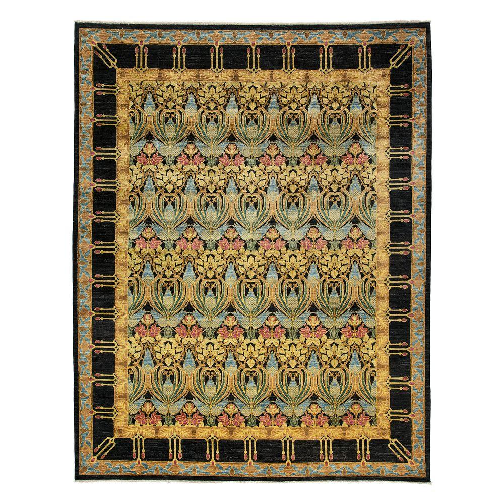 Darya Rugs Suzani Black 9 ft. 1 in. x 11 ft. 6 in. Indoor Area Rug