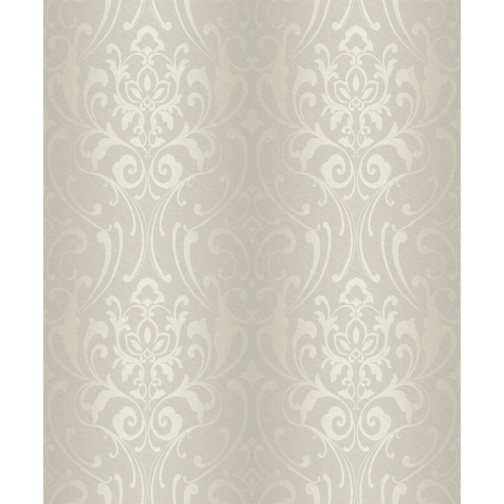 York Wallcoverings 56 sq. ft. Glam Damask Wallpaper-Y6150501 - The Home