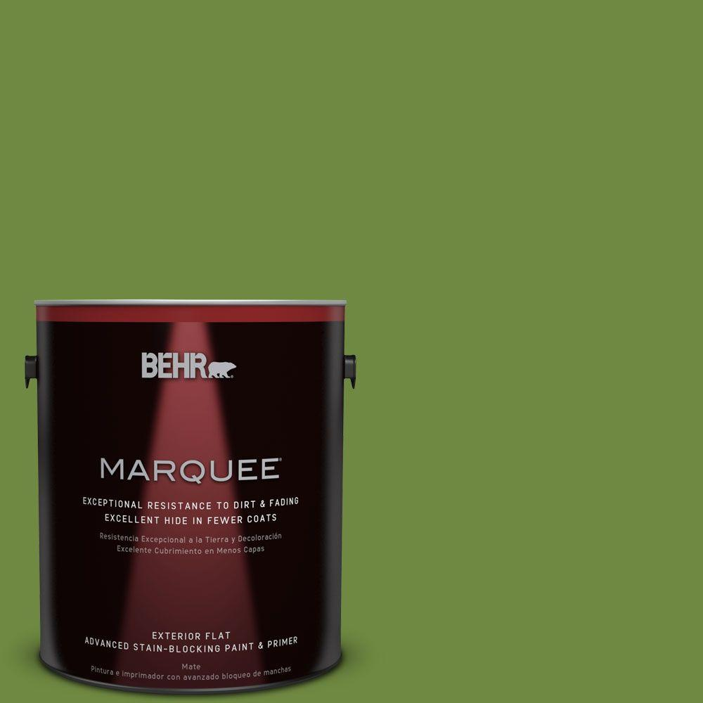 BEHR MARQUEE 1-gal. #S-H-420 Shamrock Flat Exterior Paint-445301 - The Home