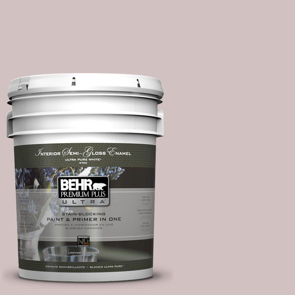 5-gal. #120E-2 French Taupe Semi-Gloss Enamel Interior Paint