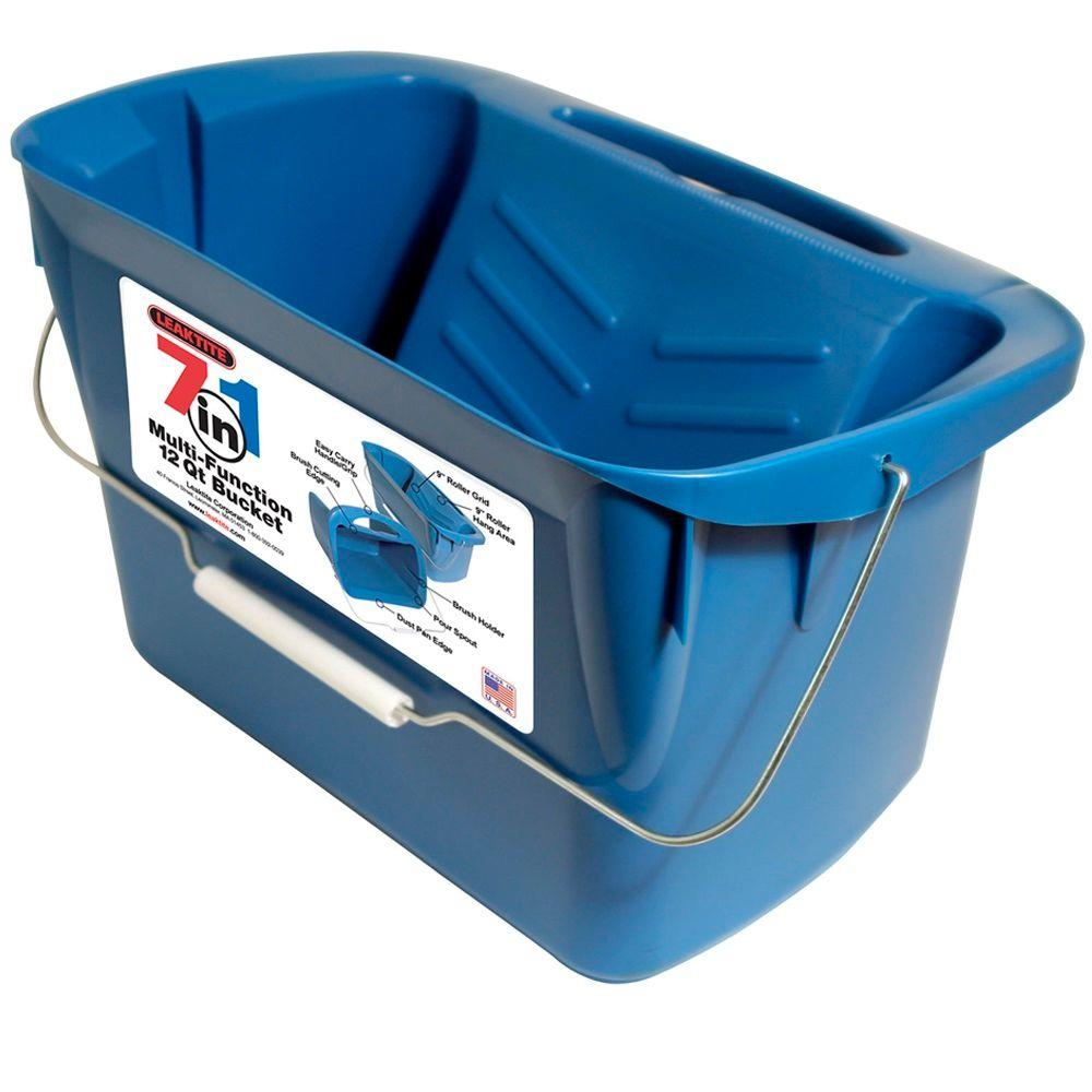Leaktite 12-qt. 7-in-1 Multi-Function Bucket (3-Pack)-211937 - The Home Depot
