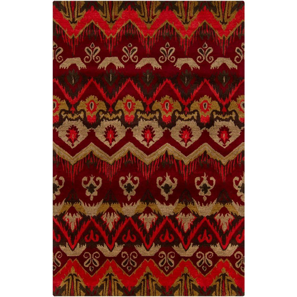 Chandra Rupec Red/Gold/Black/Taupe 7 ft. 9 in. x 10 ft. 6