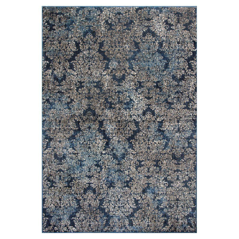 Avenue Blue 7 ft. 10 in. x 11 ft. 2 in.