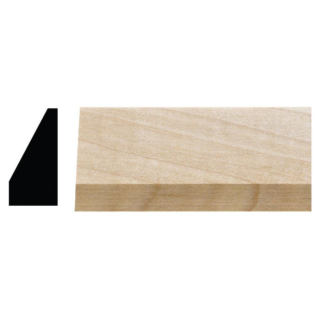 3/4 in. x 1-1/4 in. x 96 in. White Hardwood Contemporary
