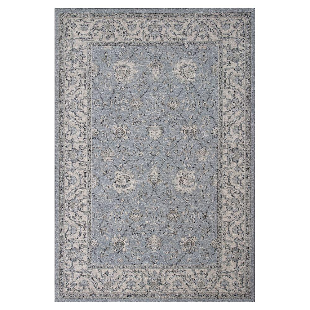 Kas Rugs Everyday Tradition Blue/Beige 7 ft. 10 in. x 11 ft. 2 in. Area Rug
