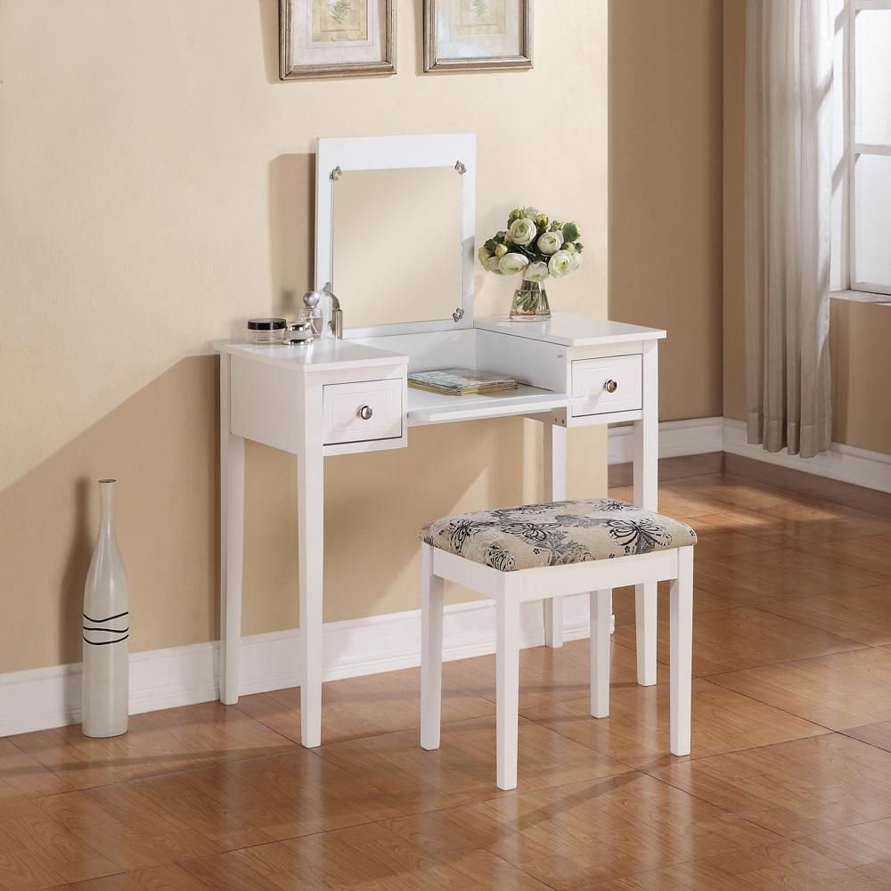 This Question Is From White Bedroom Vanity Table With Butterfly Bench