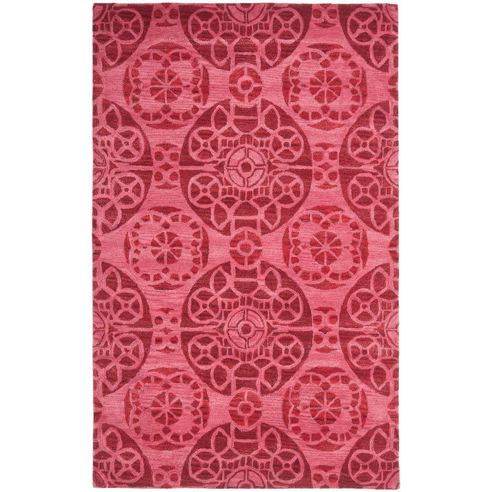 Safavieh Wyndham Red 4 ft. x 6 ft. Area Rug