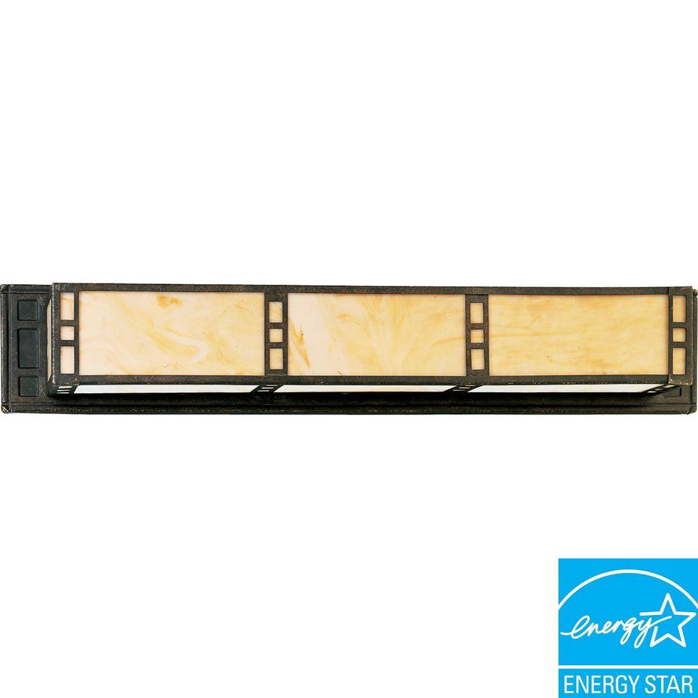 Progress Lighting Arts and Crafts Collection Weathered Bronze 2-light Fluorescent Vanity Fixture-DISCONTINUED